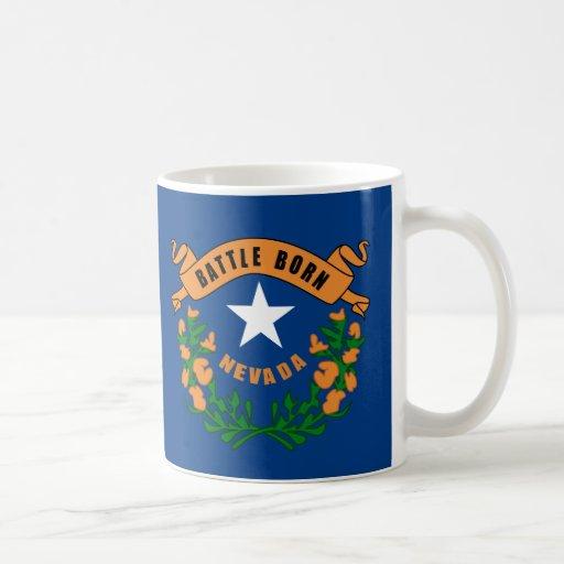 Nevada State Flag Basic White Mug