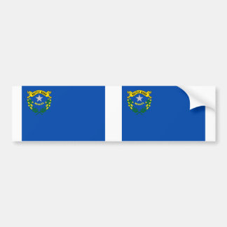 Nevada state flag bumper sticker