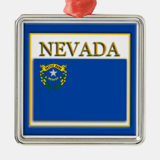 Nevada State Flag Christmas Ornament