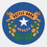 Nevada State Flag Classic Round Sticker