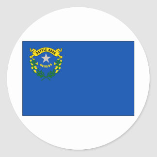 Nevada State Flag Classic Round Sticker