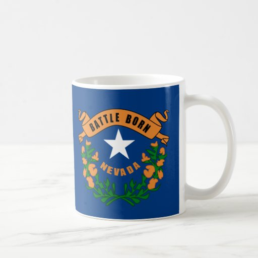 Nevada State Flag Classic White Coffee Mug
