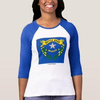 Nevada State flag for Women's-T-Shirt-White-Blue T-Shirt