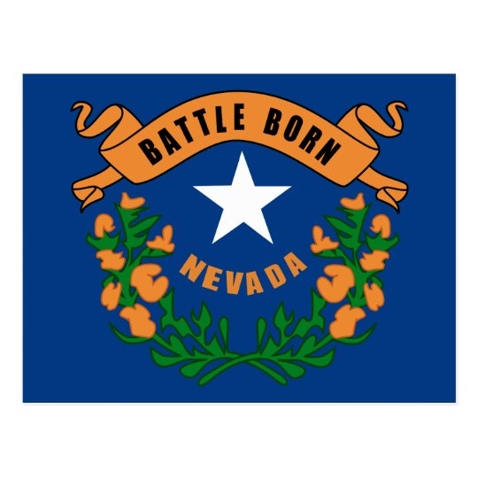 Nevada State Flag Postcard