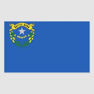 Nevada State flag Rectangular Sticker