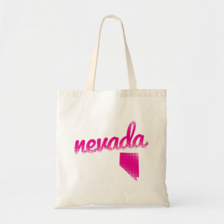 Nevada state in pink tote bag