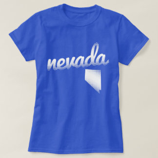 Nevada state in white T-Shirt