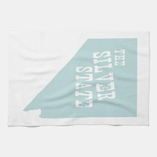 Nevada State Motto Slogan Tea Towel