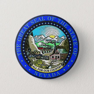 Nevada State Seal 6 Cm Round Badge