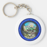 Nevada State Seal Basic Round Button Key Ring