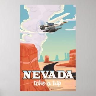 Nevada State vintage travel poster