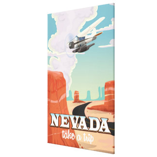 Nevada State vintage travel poster Stretched Canvas Print