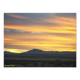 Nevada Sunset by James Ledbetter Photographic Print
