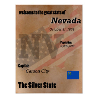 Nevada The Silver State Classic Poster