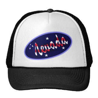 Nevada USA embroidered effect hat
