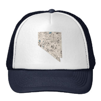 Nevada Vintage Picture Map Cap