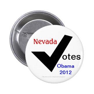 Nevada Votes Obama 2012 Pinback Button