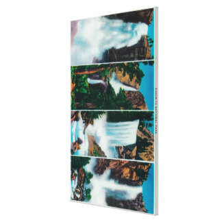 Nevada Yosemite Vernal and Bridal Veil Falls Stretched Canvas Print