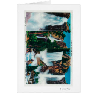 Nevada, Yosemite, Vernal, and Bridal Veil Falls Greeting Card