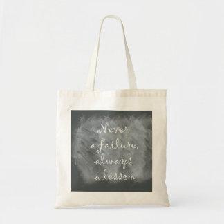 Never a Failure, Always a Lesson Tote Bag