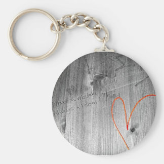 Never a Mistake Basic Round Button Key Ring