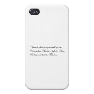 Never Afraid iPhone 4 Cover