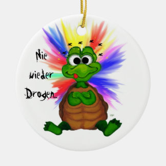 Never again drugs christmas tree ornaments