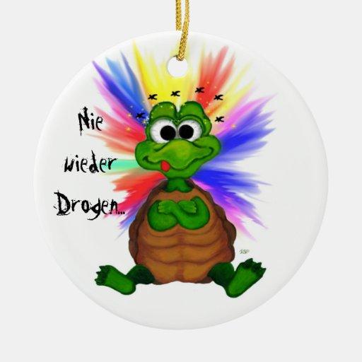 Never again drugs christmas tree ornaments