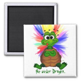 Never again drugs square magnet