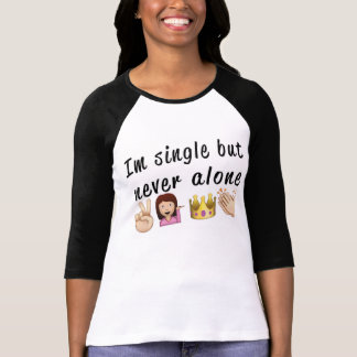Never alone Canvas Long Sleeve Raglan T-shirt