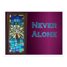 Never Alone Holy Spirit Window Postcard