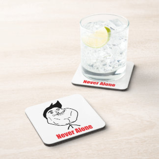 Never Alone - set of 6 Cork Coasters