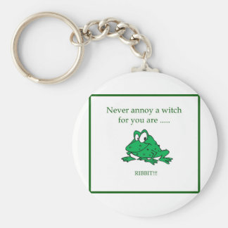 Never annoy a witch key ring