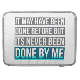 Never Been Done By Me Laptop Sleeve