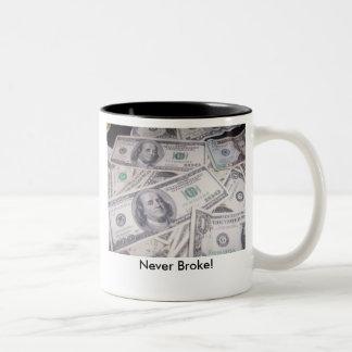 $$, Never Broke! Two-Tone Mug