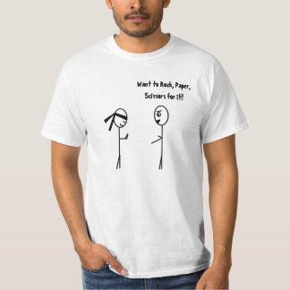 Never Challenge a Ninja to Rock, Paper, Scissors. T-Shirt