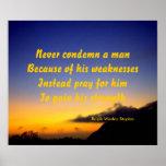 never condemn a man poster
