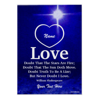 Never Doubt I Love You Poster-Customise