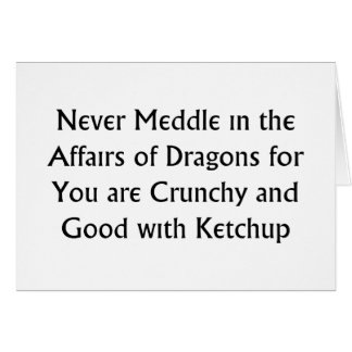 Never Dragons Greeting Card