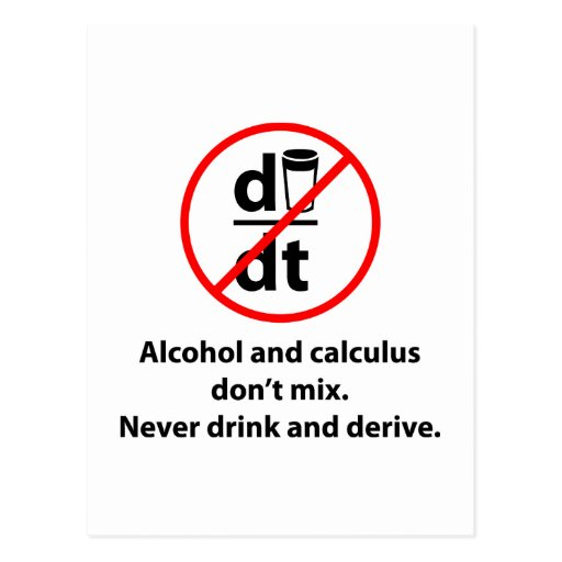 Never Drink And Derive Postcards