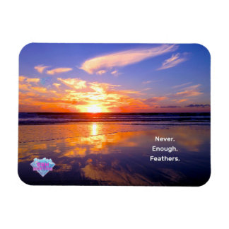 Never Enough Feathers Rectangular Photo Magnet