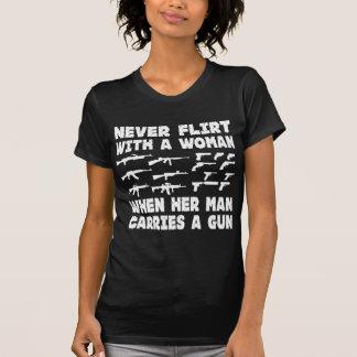 Never Flirt With A Woman When Her Man Carries T-Shirt