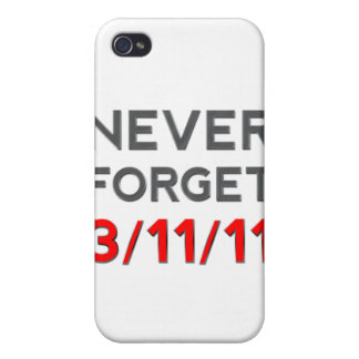 Never Forget 3-11-2011 iPhone 4 Cases
