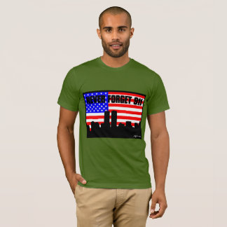 Never Forget 911 TSHIRT GREEN OLIVE