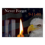 Never Forget 9-11-01 Greeting Card