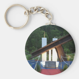 Never Forget 9/11/01 Basic Round Button Key Ring