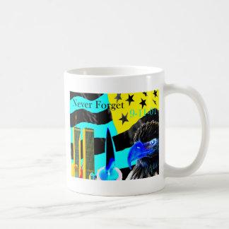 Never Forget 9-11-01 Negative Basic White Mug