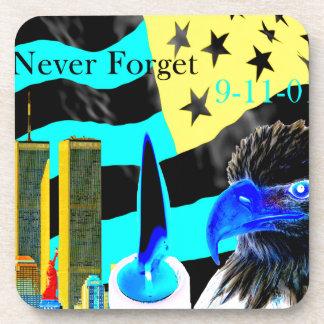 Never Forget 9-11-01 Negative Drink Coaster