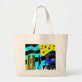 Never Forget 9-11-01 Negative Jumbo Tote Bag