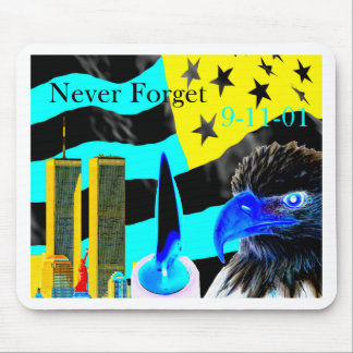 Never Forget 9-11-01 Negative Mouse Pad